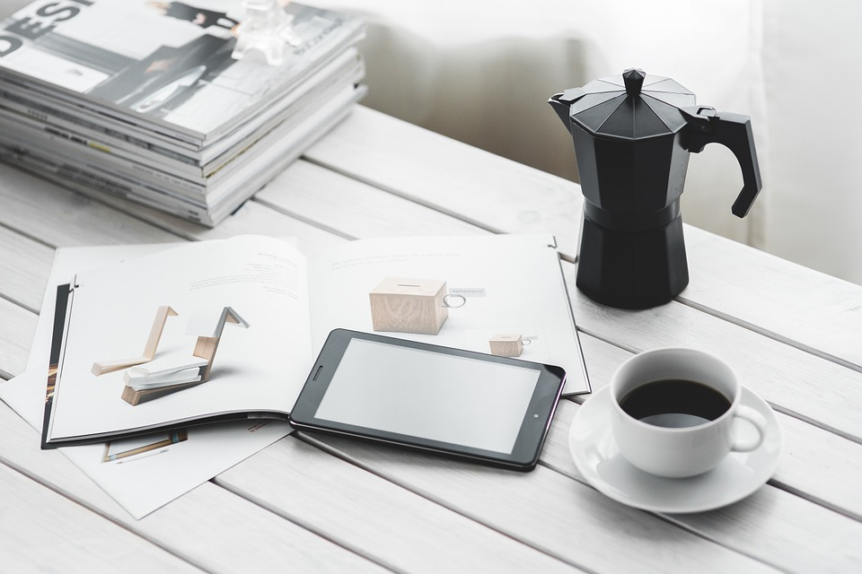 Technology, with a cup of coffee