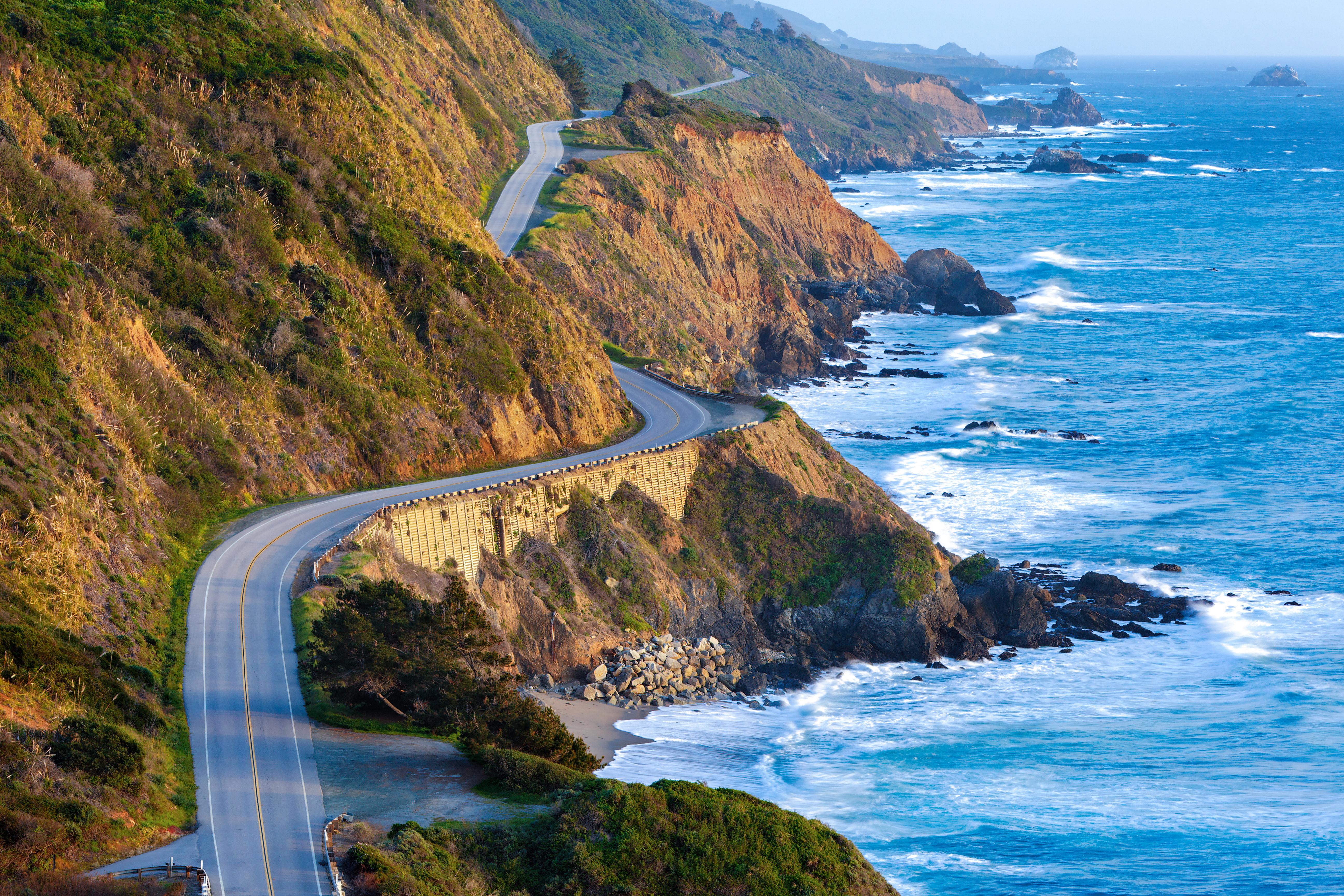 Coastal highway; luxury auto